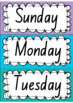 Rainbow Days & Months - Australian Holidays (NSW fonts)