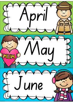 Rainbow Days & Months - Australian Holidays (SA fonts)
