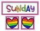 Rainbow Days & Months Calendar Headers