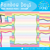 Rainbow Days - A Chevron Paper and Cover Pages