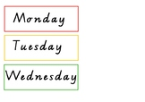 Rainbow Days,months, today is, tomorrow is, calendar VIC FONT