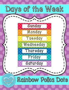 Rainbow Days of the Week