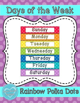 Rainbow Days of the Week
