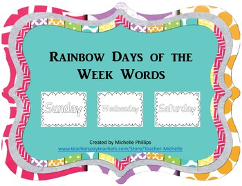 Rainbow Days of the Week - Coloring Worksheets