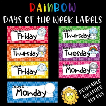 Rainbow Days of the Week with Weather Cards
