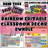 Rainbow  Decor Mega Bundle (Editable Growing Bundle)
