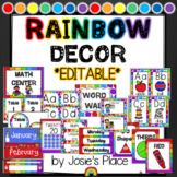 Rainbow Decor HUGE EDITABLE BUNDLE