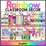 Rainbow Decor Set - English