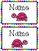 Rainbow Decor and Classroom Labels w/Turtles
