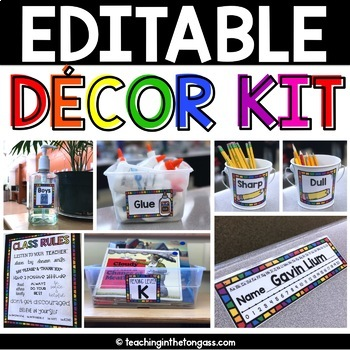 EDITABLE Rainbow Decor and Supply Labels (Editable Labels and MORE)
