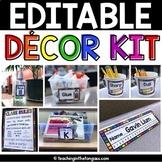 Rainbow Classroom Decor Editable Labels & MORE
