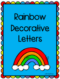 Rainbow Decorative Letters
