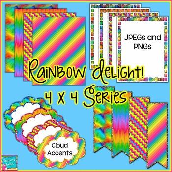 Rainbow Delight! Mini Seller Starter Pack Clip Art CU OK {4444}