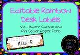Rainbow Desk Labels
