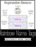 Rainbow Desk Labels - Editable