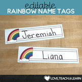 Rainbow Desk Name Plates : Editable Desk Strips