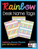 Rainbow Desk Name Tags