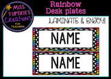Rainbow Desk plates/ tote tray labels