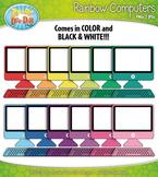 Rainbow Desktop Computer Clipart {Zip-A-Dee-Doo-Dah Designs}