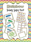 Rainbow Dewey Signs Pack