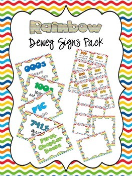 Rainbow Dewey Signs Pack