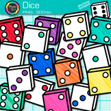 Rainbow Dice Clip Art {Math Manipulatives for Center Activities and Games} 3