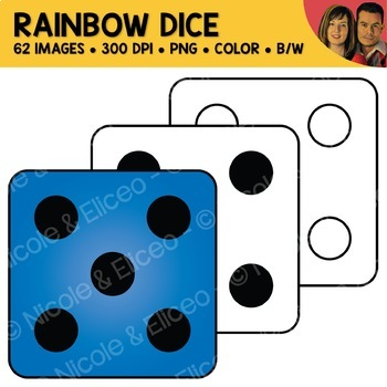 Rainbow Dice Clipart