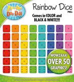 Rainbow Dice Clipart {Zip-A-Dee-Doo-Dah Designs}