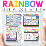 Rainbow Digital Activities for Math & Reading & Writing