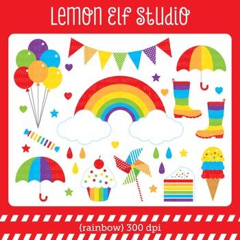 Rainbow-Digital Clipart (LES.CL18A)