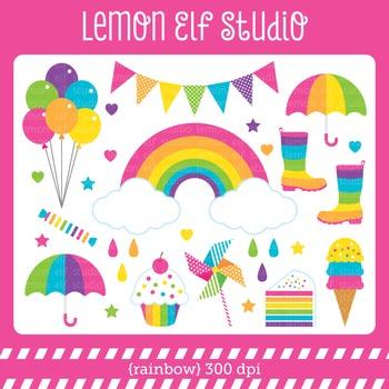 Rainbow-Digital Clipart (LES.CL18B)
