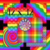Rainbow Digital Paper Backgrounds