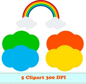 Rainbow Digital Paper & Clipart