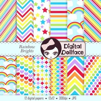 Digital Paper - Rainbow