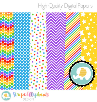 Rainbow Digital Papers 2