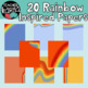 Rainbow Digital Papers / Product Covers / Design Templates
