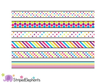 Rainbow Digital Ribbon Borders