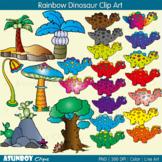 Rainbow Dinosaurs Clip Art - Asunboy Clips