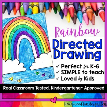 Rainbow Directed Drawing ... Spring ... March ... Beginning of the Year ...