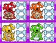 Rainbow Dog Dipthongs Clip Cards First Second Literacy Center