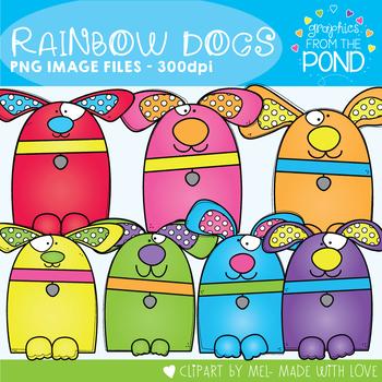 Rainbow Dogs Clipart