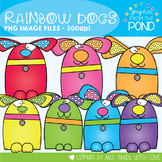 Rainbow Dogs Clipart