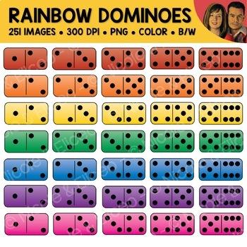 Rainbow Dominoes Clipart