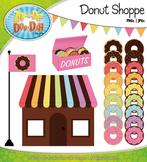 Rainbow Donut Shoppe Clipart {Zip-A-Dee-Doo-Dah Designs}