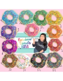 Rainbow Donuts Character Clipart