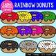 Rainbow Donuts Digital Clipart