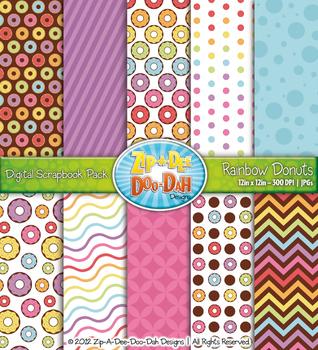 Rainbow Donuts Digital Scrapbook {Zip-A-Dee-Doo-Dah Designs}