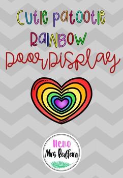 Rainbow Door Display EDITABLE
