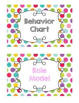 Rainbow Dot Behavior Chart