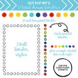 Rainbow Dot Borders + Backgrounds BUNDLE